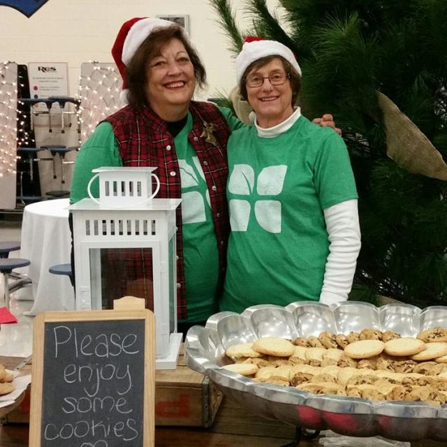 Plenty of cookies and hot apple cider, served by warm, friendly faces