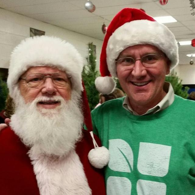 Our very own Santa Claus, Don Harrison, with West Murfreesboro campus minister Glenn Robb